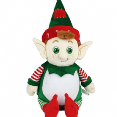 Personalised Christmas Elf Cubbie Teddy